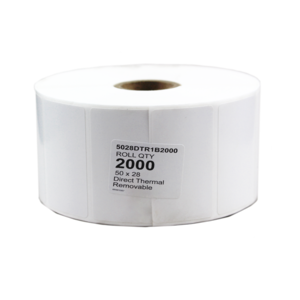 50x28mm DT Rem 2000 per roll 38mm core