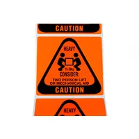 Caution: Heavy (15-30kg) Label